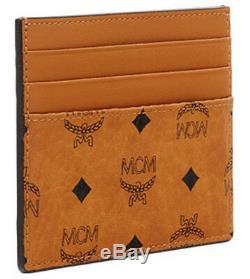 New Authentic MCM New Visetos Original MXC8AVI65CO Card Case Mini Money Clip EMS