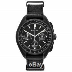 New Bulova Lunar Pilot Special Edition Moon Watch Case Black Pvd Case 98a186