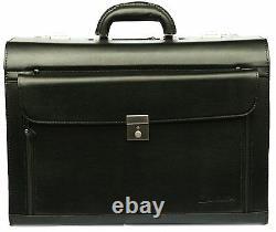 New Business Black Executive Laptop Travel Work Flight Pilot Bag Case Briefcase