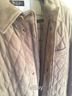 New Loro Piana Mens Coat In Beautiful Suede Leather (COMES IN ORIGINAL CASING)