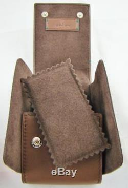 New Original And Authentic Stamped Rolex Brown Leather Watch Travel Case