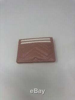 New Original Black Leather Gucci GG Marmont Card Case / Holder Wallet