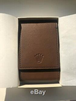 New Original Rolex Cafe Leather Travel Case