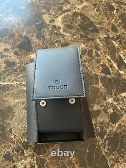 New Original Rolex TUDOR Watch Leather Travel Storage Noir Case