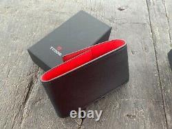 New Original Tudor Rolex Watch Leather Travel Storage Noir x Rouge Case