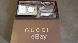 New Original iPod Case Gucci Silver Leather & Carry Strap Wristlet included