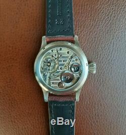 Nice Cortebert Rolex Marriage Watch Big 43mm Steel Case Original Dial and Hands