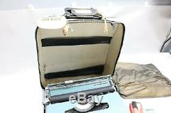 Nice Vintage Olivetti Lettera 22 & Original Leather Case & Book Tested Working