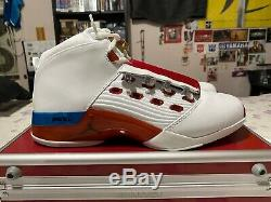 Nike Air Jordan Retro 17 red and white with original case. Size 10.5