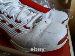 Nike Jordan 17 xvii white red 2002 UK 11 US 12 air og original case cd