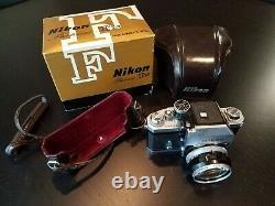 Nikon F Photomic Tn 35mm SLR Film Camera Original Box Leather Case