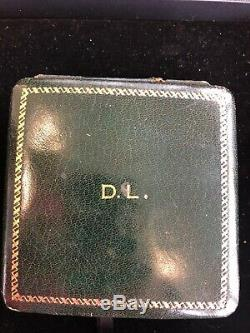 ORIGINAL VINTAGE TIFFANY & CO 8 DAYS ANGELUS ALARM Clock Leather Travel Case
