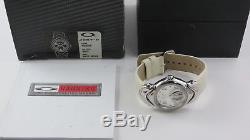 Oakley Jury II Watch Polished Casing White Leather+Original Box Judge 10-270 NEW