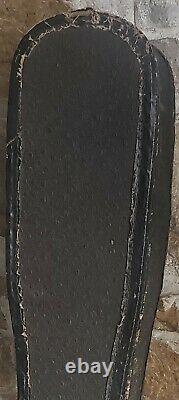 Old Lap Steel Electric Guitar Wood Wooden Original Leather Case Cloth Wrap Cord