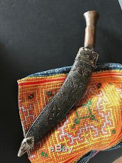 Old Nepalese Kukri or Khukuri / Gurkha Knife in Leather Case
