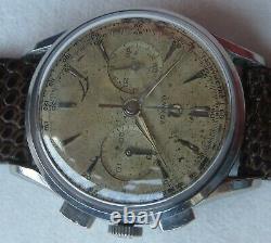Omega Ref. 2453 Chronograph mens wristwatch steel case cal. 320 all original