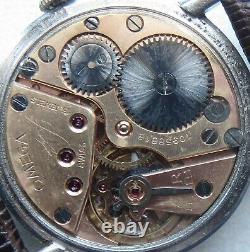 Omega mens wristwatch steel case load manual cal. 30T2 ref. 2318/6 original dial