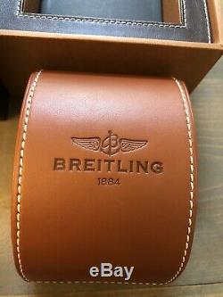 Original Authentic Leather Breitling box and Travel case