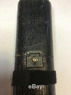 Original Fellini Leather Embossed Pool Cue Case With Original Shoulder Strap
