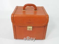 Original Ferrari 456 Schedoni Tan Leather Vanity Case Luggage Piece