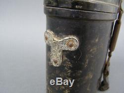 Original German WWII Bakelite 6x30 Binocular Case With Leather Straps Damaged