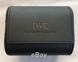 Original IWC Schaffhausen Black Leather Watch Travel Carry Storage Service Case