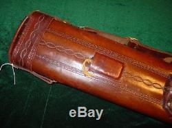Original Jack Justis Leather Case 2 x 4 Single Pocket, Tooling