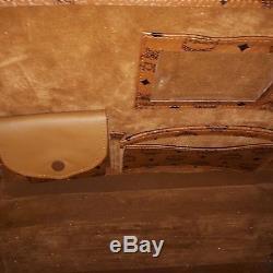 Original MCM Leather Roller suitcase