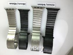 Original OEM Apple Watch Series 5 4 3 Stainless steel link bracelet band Genuine