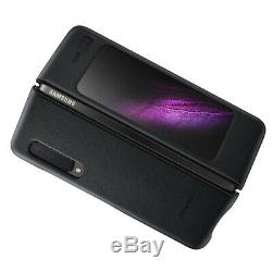 Original Samsung Official Galaxy Fold Leather Cover Black Retail Box EF-VF900