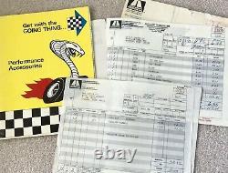 Original Shelby 427 Cobra leather key case (fob) with Cobra Wilco decals Pair