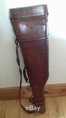 Original Untouched Antique Leg Of Mutton Leather Gun Case