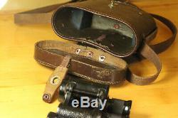 Original WW2 WWII 1942 Soviet Red army RKKA Binoculars with Leather Case