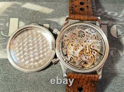 Original c1960 GALLET Chronograph Excelsior Park EP4 Super patina 37mm case
