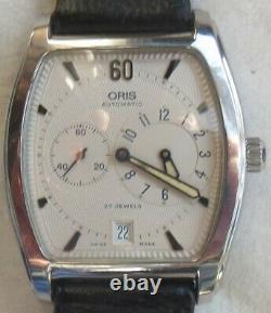 Oris Regulator Date automatic mens wristwatch steel case Ref. 7471 all original