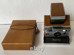 POLAROID SX-70 Land Camera, Vintage Model, with Original Leather Case