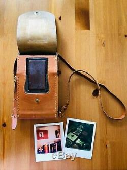 POLAROID SX-70 Model 2 Land Camera with ORIGINAL LEATHER CASE & TESTED WORKING