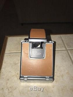 Polaroid Original Vintage SX-70 Land Camera Silver & Brown withleather case TESTED