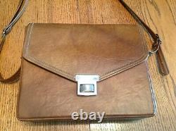 Polaroid SX-70 Instant Camera TAN Leather With Original Case And Manuals WORKS