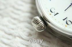 Porcelain Vintage 1920 Original Swiss New Cased WIDE FACE rare SKELETON Watch