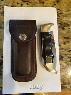 Pre Owned Kershaw Folding Field #1050 Knife & Leather Sheath Case