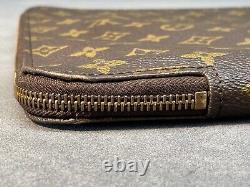 Pre-owned Original Genuine Louis Vuitton Zippered Document Holder Laptop Case