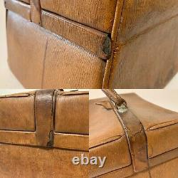 Quality Antique Leather Gladstone Doctors Bag Travelling Vanity Case Luggage