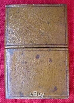 RARE 1820s MINT UNUSED WEISS LONDON 3 PIECE LANCET SET ORIGINAL LEATHER CASE