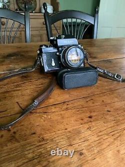 RARE BLACK Nikon F, 50mm f/1.4, FT Meter Head, and Original Nikon Leather Case
