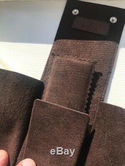 RARE! Original Rolex travel storage case brown cafe leather NEW