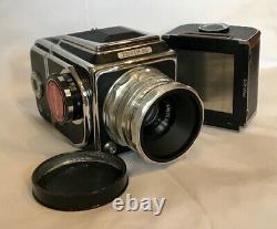 RARE ZENITH 80 MEDIUM FORMAT 120mm FILM CAMERA IN ORIGINAL BROWN LEATHER CASE