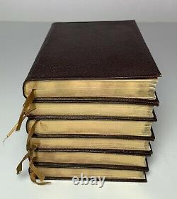 ROBERT BROWNING Antique 6 Volume Book Set CASED THOMAS NELSON SONS Leather Bound