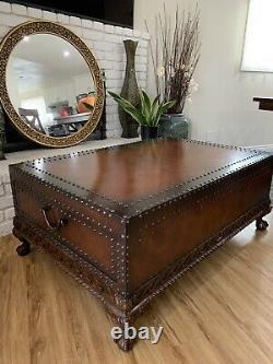 Ralph Lauren Leather Case Cocktail Table
