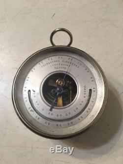 Rare Antique Otto Bohne Holosteric Barometer With Leather Case & Instructions
